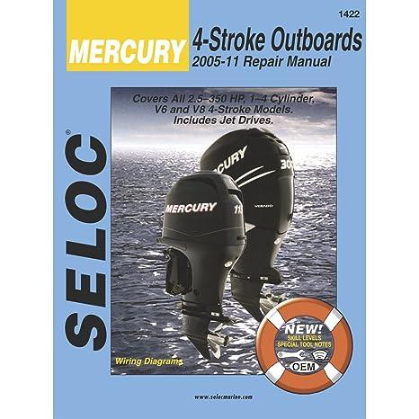 amazon com seloc service manual mercury mariner all 4 stroke rh amazon com mercury verado 300 parts manual mercury verado 135 service manual