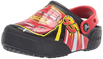 bc9e78662ae crocs Boy's CrocsFL McQueen Light CLG K Black Clogs-C10 (205497-001-