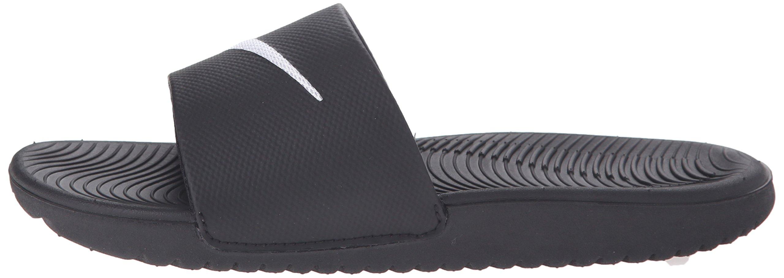 NIKE Kids' Kawa Slide Sandal, Black/White, 4 M US Big Kid by Nike (Image #5)