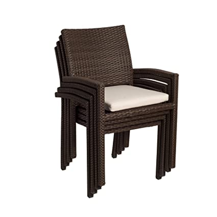 Genial Atlantic Liberty Stackable Armchairs, Pack Of 4