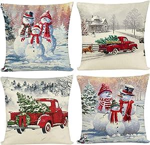 Joyshare Christmas Throw Pillow Covers 18