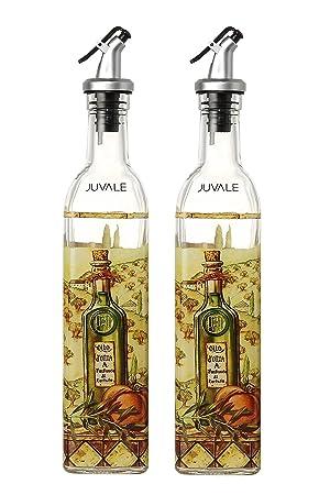 Dispensadores de aceite de oliva y vinagre - botellas de aceite y vinagre con vertedor de