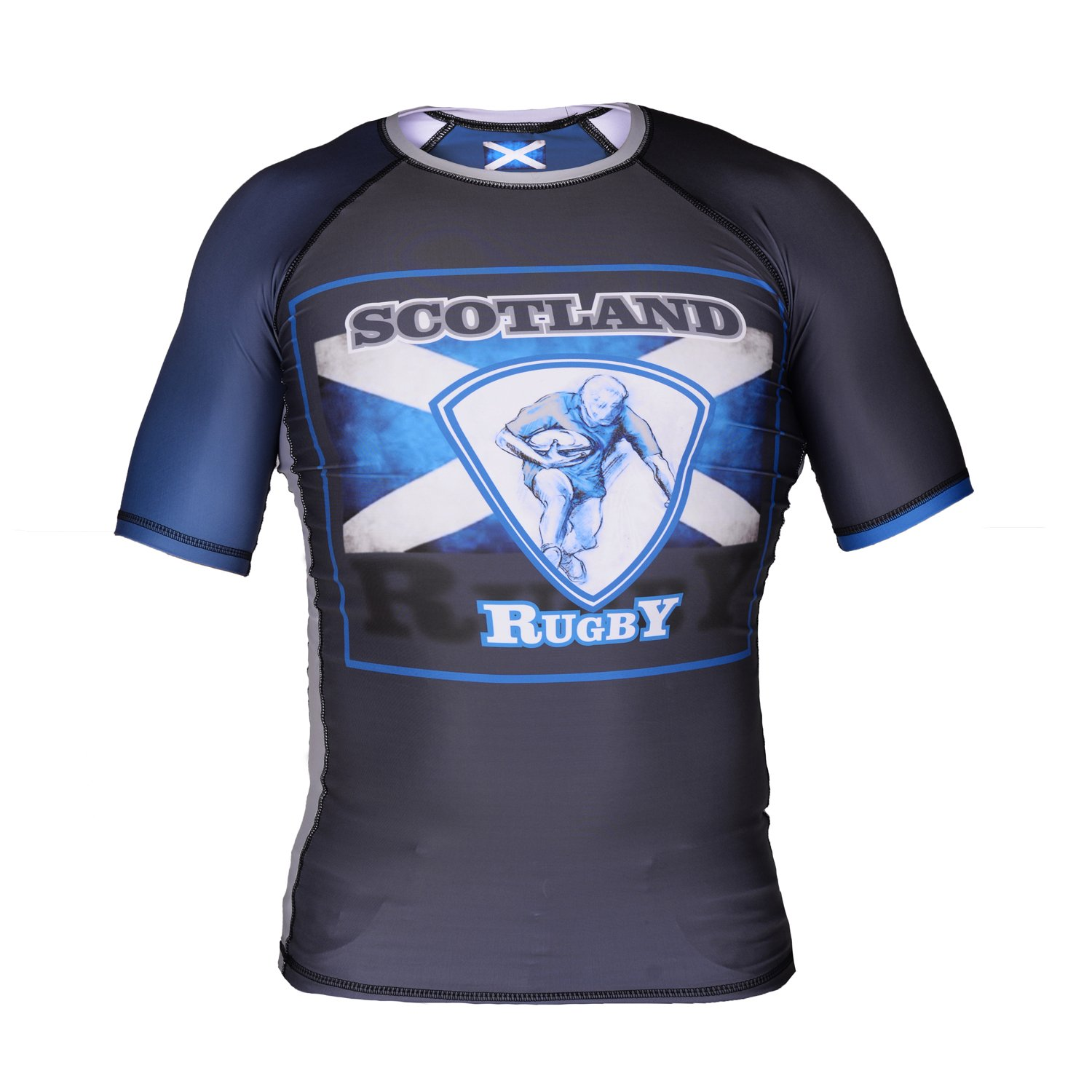 Image of Street Fighter Short Sleeve Rash Guard SCOTLAND