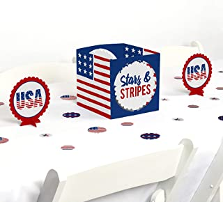 product image for Big Dot of Happiness Stars and Stripes - Memorial Day, 4th of July and Labor Day USA Patriotic Party Centerpiece and Table Decoration Kit