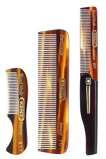 Kent Set of Combs - 81T Beard and Mustache Comb, FOT Pocket Comb, and 20T  Folding Pocket Comb