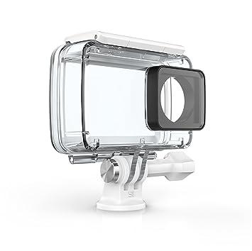 YI Carcasa Resistente al Agua para 4K Cámara de acción (Accesorios Oficiales), Color Blanco