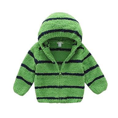 4c920b7b4 Amazon.com  BOSBOOS Toddler Baby Boys Girls Cute Fleece Thick Hoodie ...