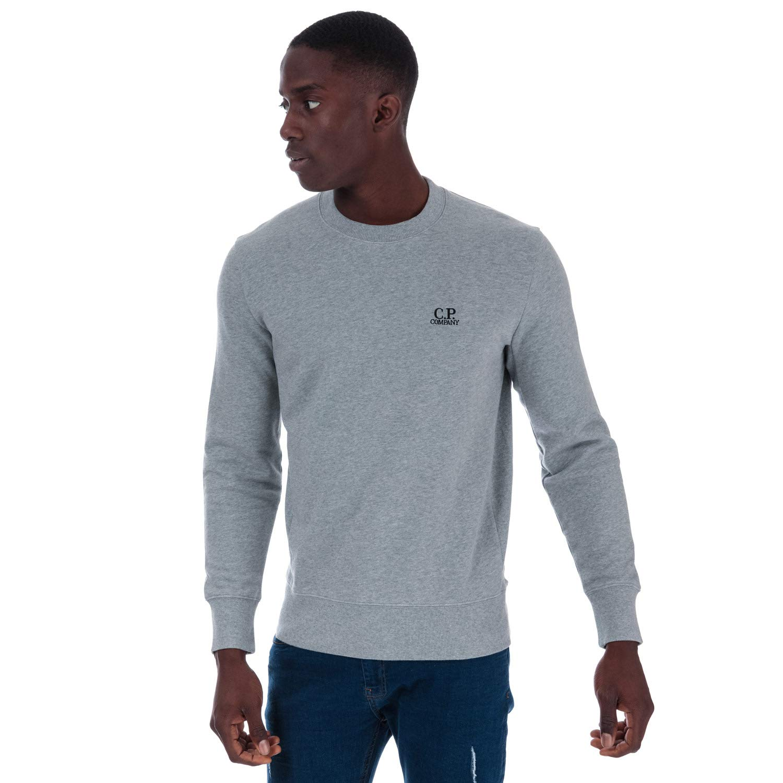 L C.P. Company Sweatshirt Diagonal Raised Fleece Crew gris Homme
