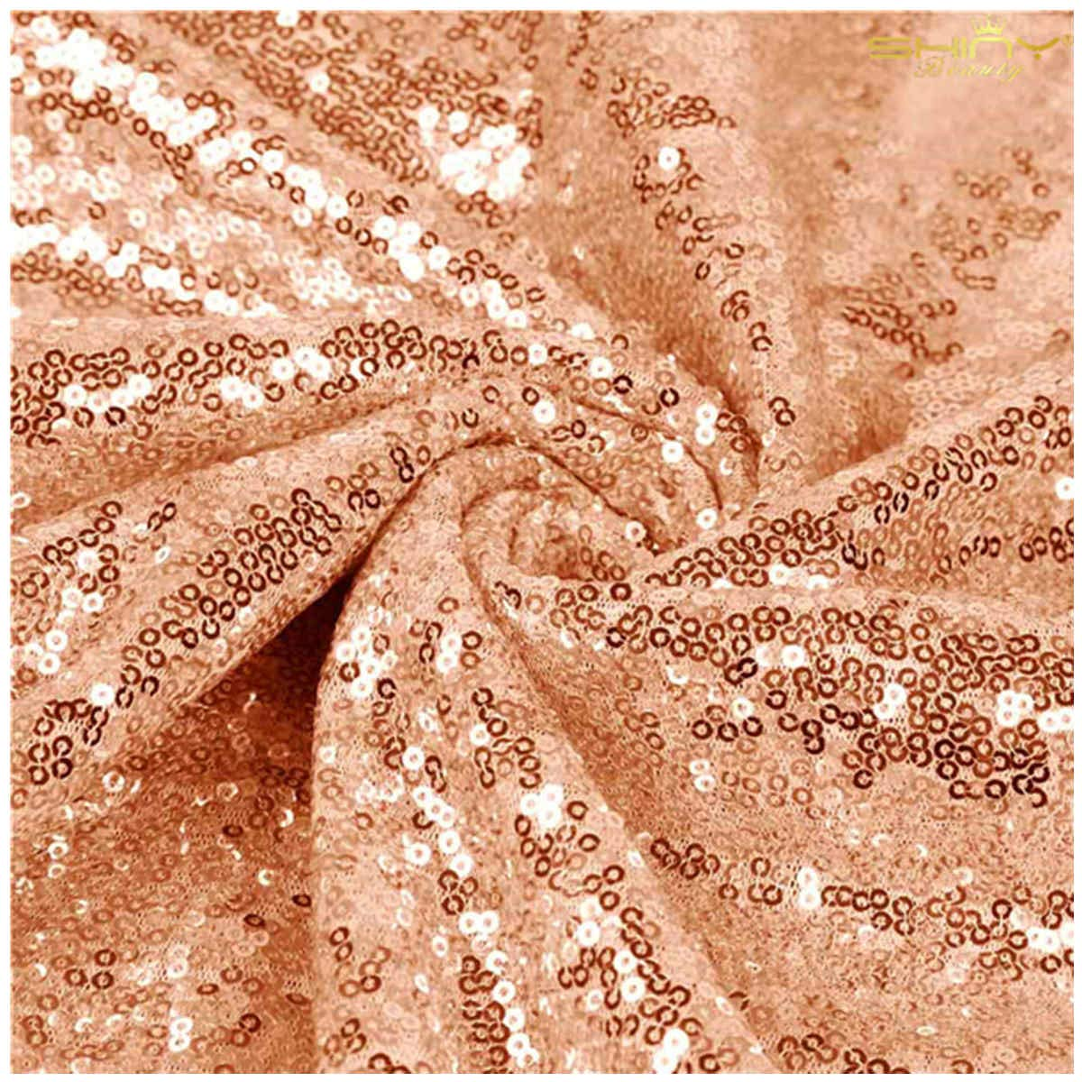 15 Feet Sequin Fabric by The 5 Yards Rose Gold Sequin Fabric for Sewing Costumes Sequin Knit Fabric Sequin Table Cloth Table Linen ~0818S