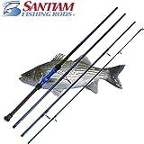 "Santiam Fishing Rods Travel Rod 4 Piece 9'0"" 12-25lb Surf Rod"