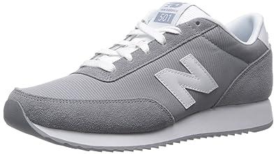 New Balance Women's WZ501V1 90's Traditional Running Shoe, Grey/White, 10 B  US