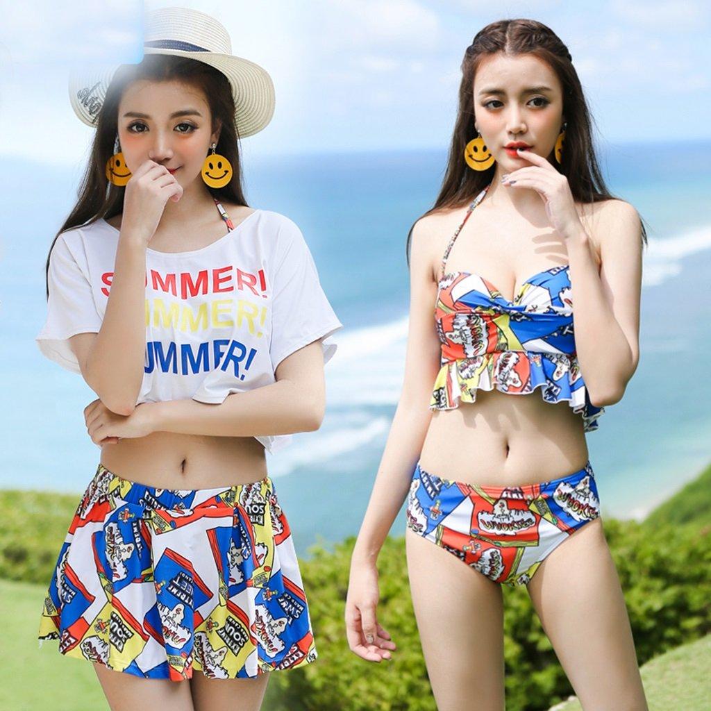 Paar Badeanzug Weibliche Dreiteilige Bikini Split Rock Konservative Abdeckung Bauch Kleine Truhe Gather Hot Spring Badeanzug