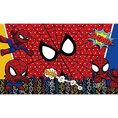 Spiderman Backdrop | 1st Birthday | Superhero Banner | for Boy | Baby Shower | Party Supplies | Background Photography: Camera & Photo