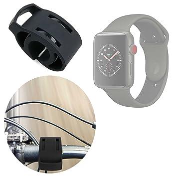 Duragadget Support vélo/Fixation Noir Bicyclette Compatible avec Montre connectée Apple iWatch 3ème série Nike+