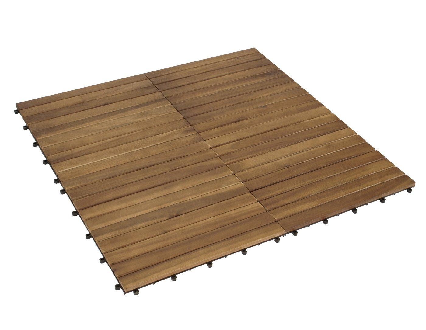 Drainage Tegels 50x50 : Degamo xl holzfliesen 50x50cm aus akazien holz 5er set fsc