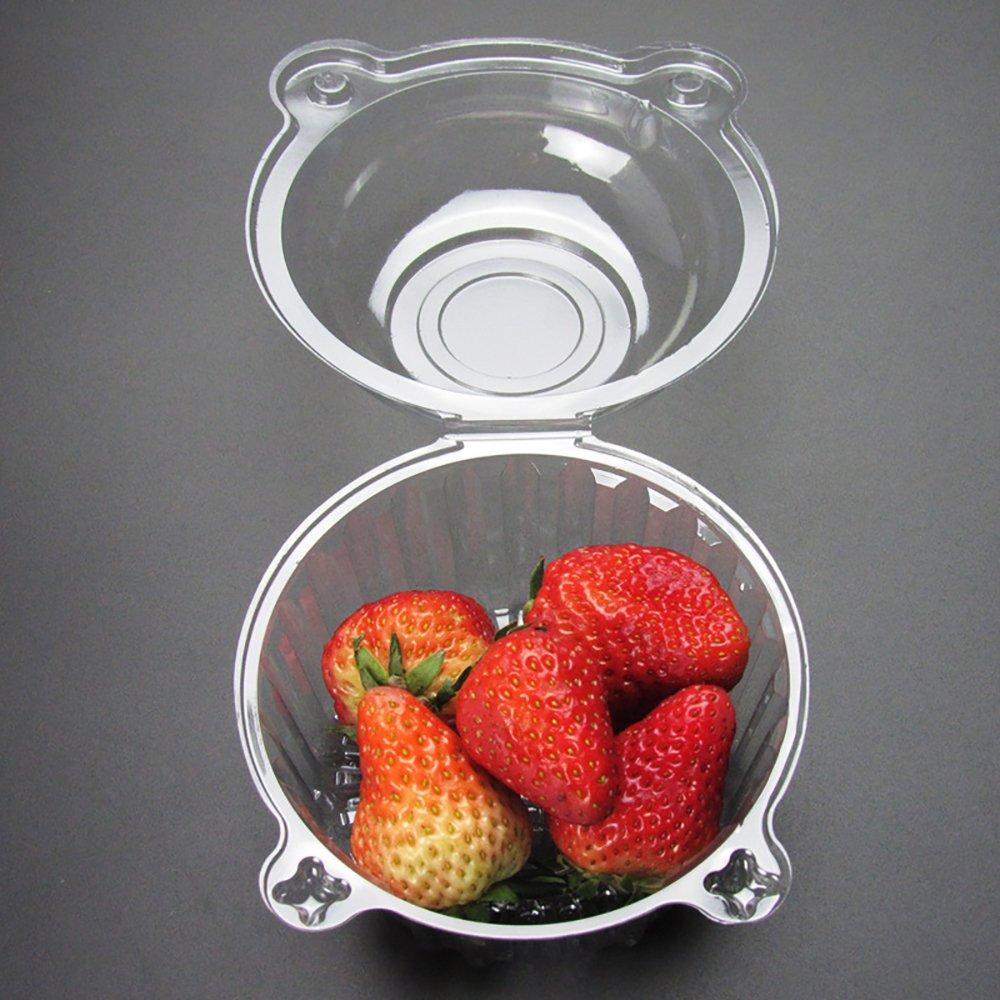 Tupper transparente de plástico desechable, con tapa, 100 unidades: Amazon.es: Hogar