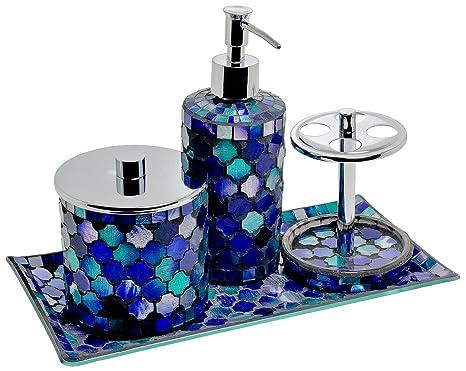 Bagni Blu Mosaico : Bagno con pavimenti e rivestimenti in mosaico u idee bagni