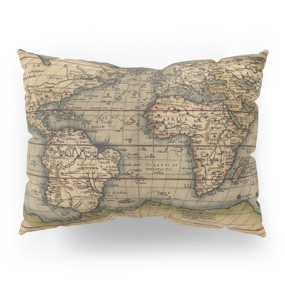 Society6 Antique Map Of North And South America Pillow Sham Standard (20'' x 26'') Set of 2