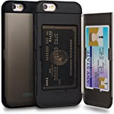 iPhone 6S Case, TORU [iPhone 6S Wallet Case] Protective Slim Fit Dual Layer Hidden Credit Card Holder ID Slot Card Case with Mirror for iPhone 6S / iPhone 6 - Gunmetal