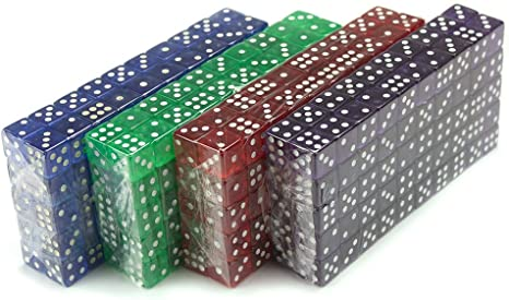 Brybelly 400 Count 16mm Dice - Purple, Blue, Green, Red