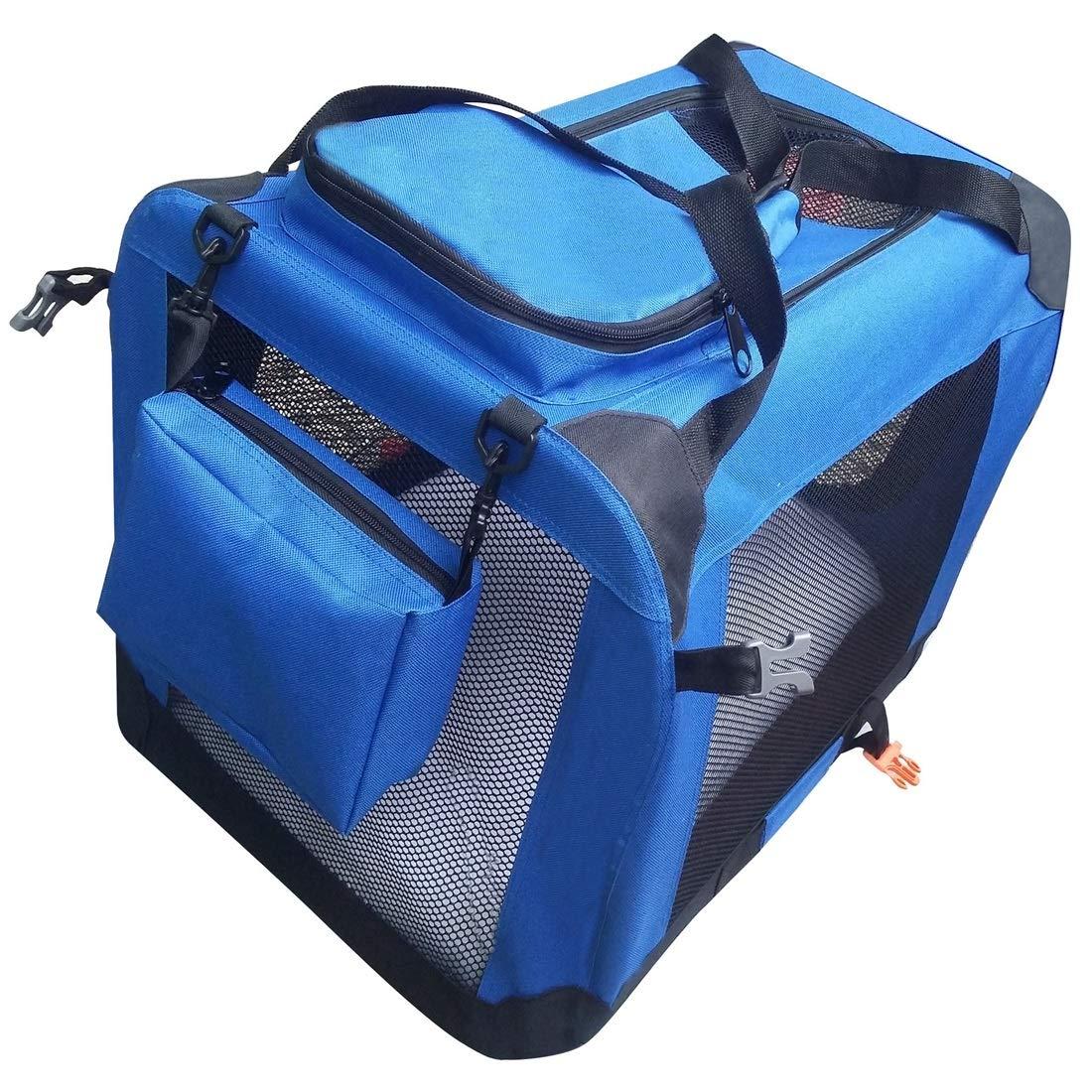 bluee 50X30X35cm bluee 50X30X35cm HUAyue Pet Bag Foldaway Pet Bag Portable Pet Bag Disassembly Car Bag (color   bluee, Size   50X30X35cm)