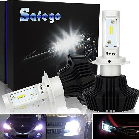 Safego 2x H7 Faro Bombillas Alquiler de luces LED 70W 8000LM brillante estupendo de la lámpara