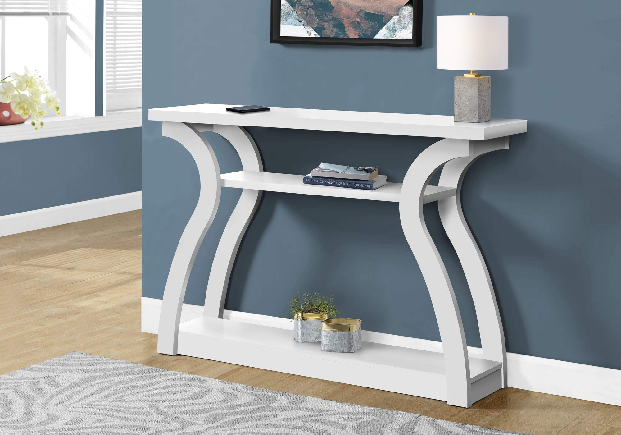 Monarch Specialties I CONSOLE TABLE, WHITE by Monarch Specialties
