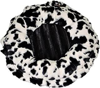 product image for BESSIE AND BARNIE Ultra Plush Spotted Pony/Black Puma (Patch) Deluxe Dog/Pet Lily Pod Bed