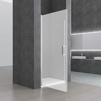 sogood Teramo22S Puerta de diseño giratoria para ducha, 90 x 190 cm, con cristal de seguridad de vidrio satinado, incluye nano revestimiento: Amazon.es: Bricolaje y herramientas