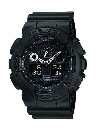 casio gshock black dial menu0027s watch ga100