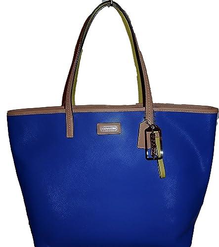 8d26ad9b01df Amazon.com  Coach Park Metro Leather Tote Handbag in Porcelain Blue  Shoes