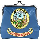 Illinois State Flag Coin Purse Mini Leather Hasp Handbag