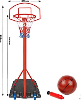 Generic. et Hoop B tabellone ruote Standi net Hoop ruote un supporto regolabile Justable stand free standing basket e set Set