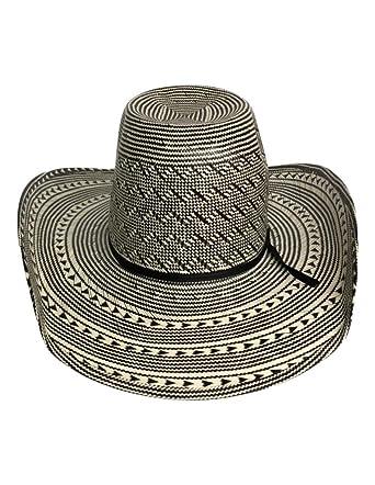 American Cowboy Hat Mens Straw Cool Hand Luke Black White 6210s Chl