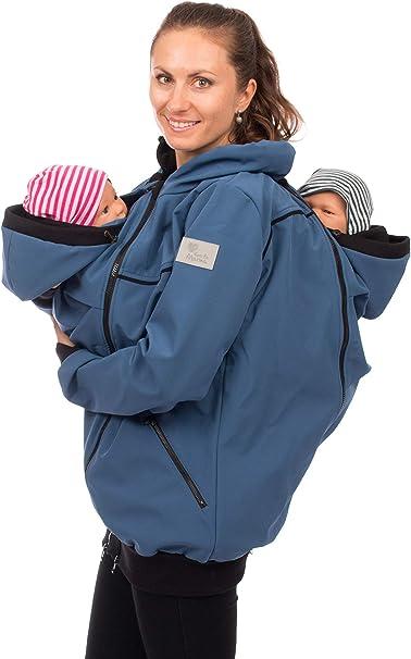 Viva la Mama - Tragejacke für Zwillinge Azurblau