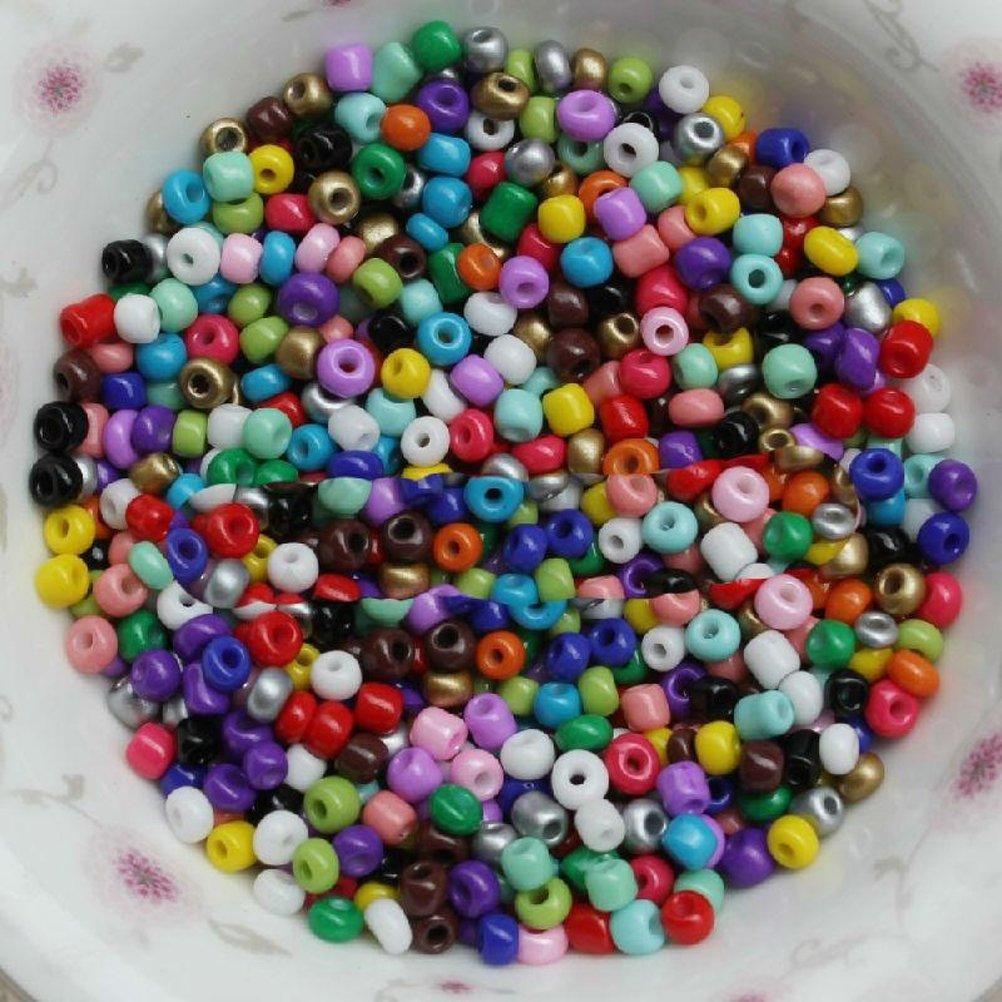 BESTONZON 1350 unids 3mm Mini cuentas de cristal para los ni/ños para la fabricaci/ón de joyer/ía collar pulsera//fabricaci/ón de joyas colores mezclados