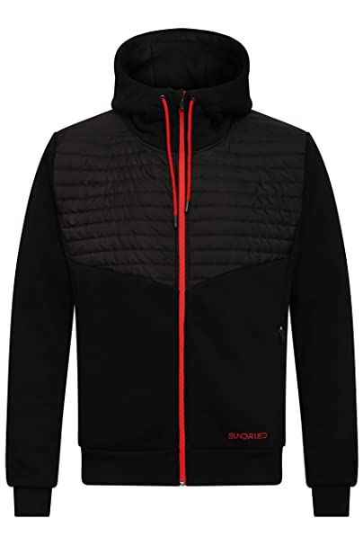 030e1dced Sundried Quilted Hoodie for Men Zip Up Ultra Warm Winter Jacket Outdoor  Sports Casual