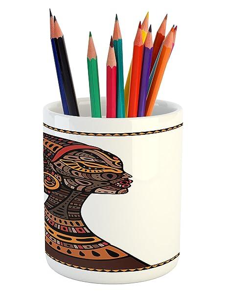 Amazon.com: africano lápiz titular de la pluma por Ambesonne ...