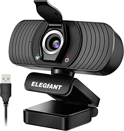 Webcam with Microphone, HD USB Web Camera with Privacy Cover for Online Teaching_20 Must-Have Classroom Items That Will Make Teacher Life Easier