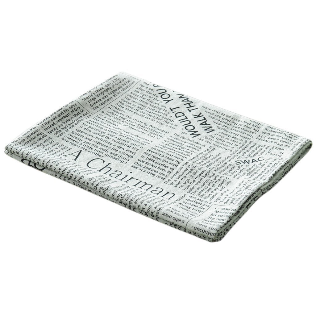 AIHOME™ Cotton Linen Table Napkin Art Style English Newspaper Design for Cutlery Tableware in Home Hotel Cafe Restaurant