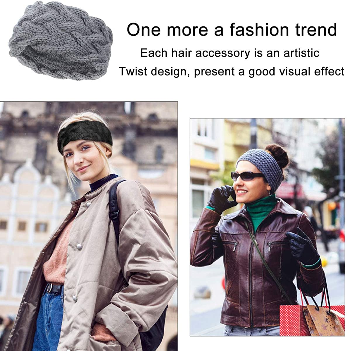Womens Beanie Hats KQueenStar Womens Stretch Cable Knit Messy Bun Beanie Hats Winter Head Warmer for Women