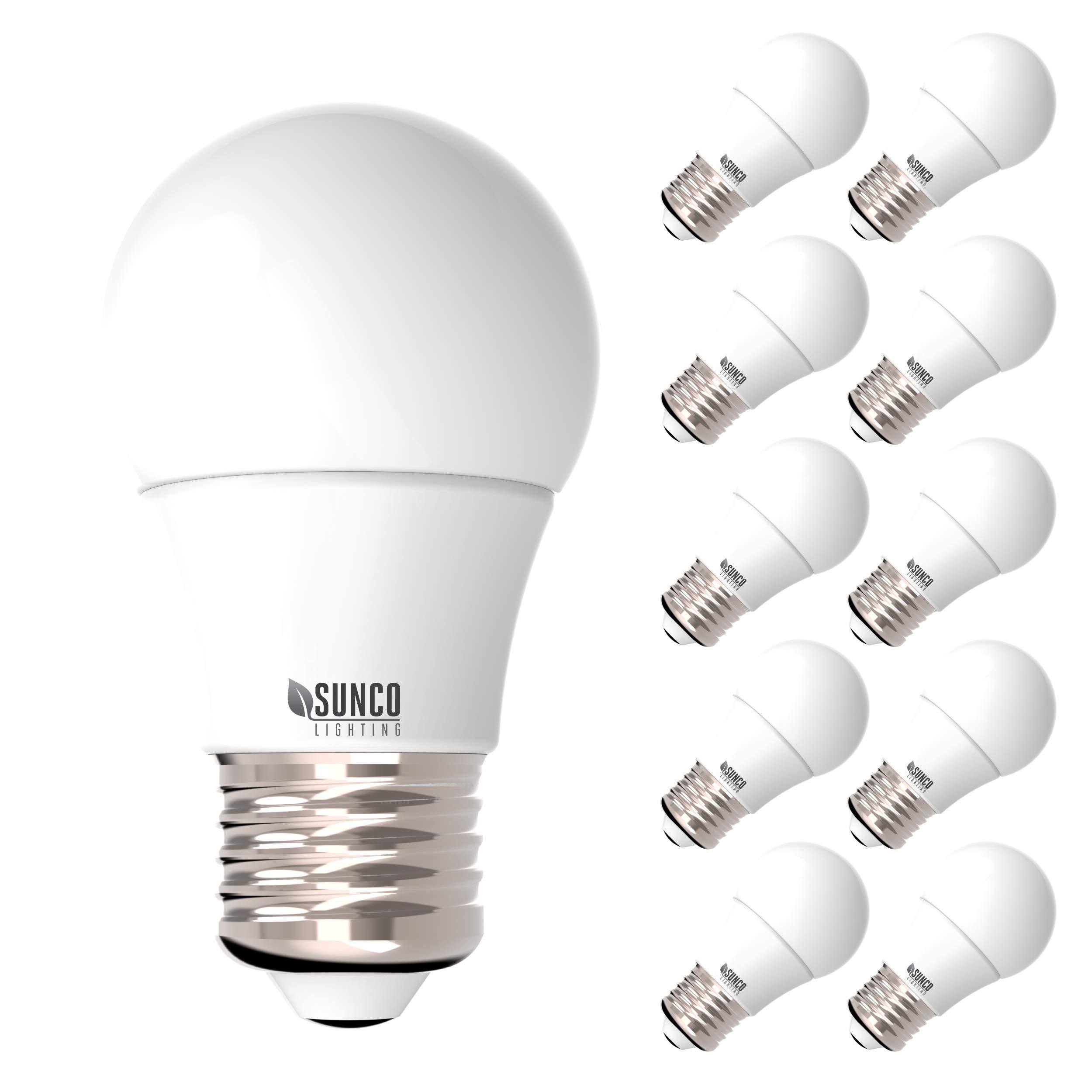 Sunco Lighting 10 Pack A15 LED Bulb, 8W=60W, 3000K Warm White, Dimmable, 800 LM, E26 Base, Refrigerator & Fan Light - UL, Energy Star