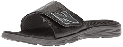 New Balance Men's Response Slide Sandal, Black/Grey, ...