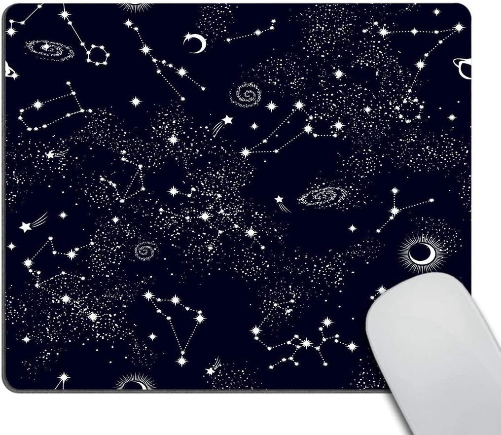 Smooffly Mouse Pad Space Galaxy Constellation Mouse Pad Star Mouse Pad Office Mouse Pad Personalized Desk Accessories Non-Slip Rubber Mousepad