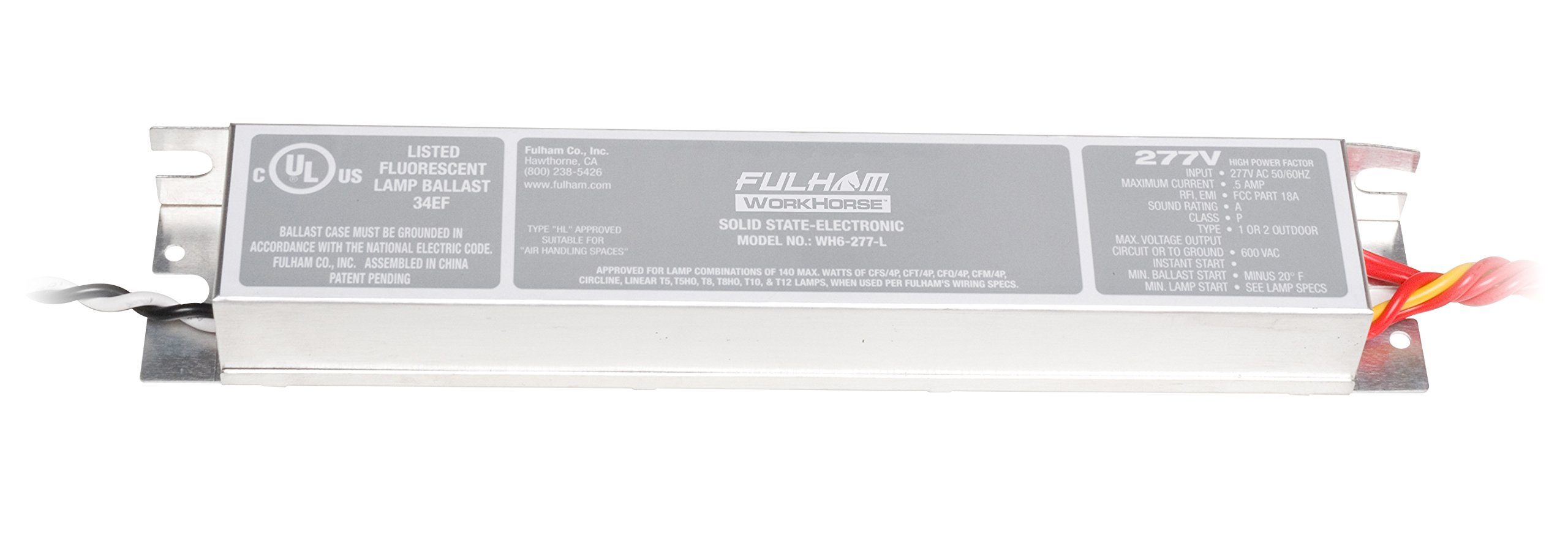 Fulham WH6-277-L Workhorse Adaptable Ballast