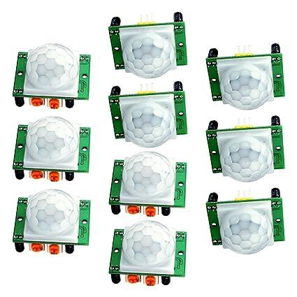 Piroeléctrico infrarrojo PIR sensor de movimiento módulo, longruner 10 x HC-SR501 Humano Módulo