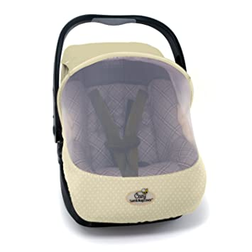 Amazon.com: EVC Cozy Sun & Bug Car Seat Cover - Beige: Baby