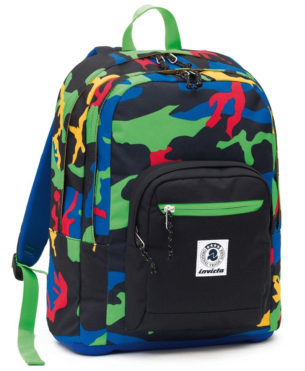 b7369094e8 ZAINO INVICTA - FORMAT - - - verde Camouflage - tasca porta pc padded -  scuola e tempo libero 33 LT 2ccc6a