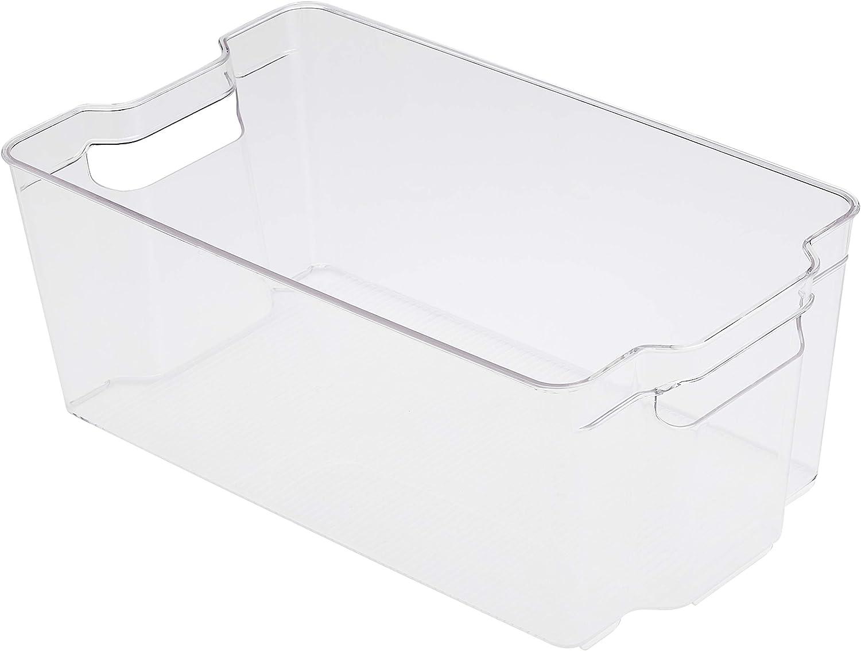 AmazonBasics Plastic Kitchen Storage Bin-Large (2-Pack)