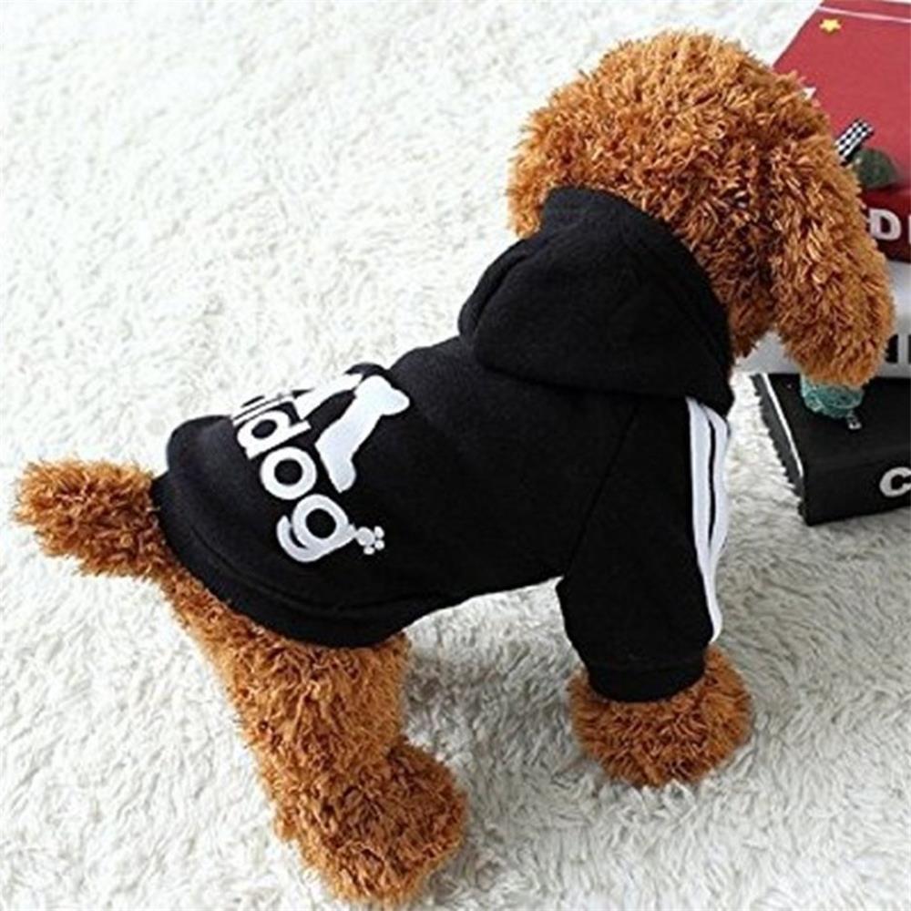 Ropa de Perros Peque/ños Abrigo Su/éter de Caliente del Perrito del Algod/ón Adidog Ropa del Perrito con Capucha Ropa para Mascotas Perros Gatos Rosado,L Techrace Ropa para Perro Adidog
